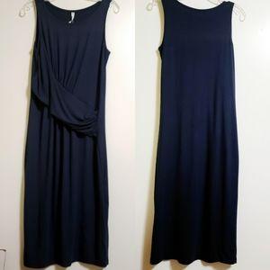 Athleta Retta Navy Midi Sleeveless Dress